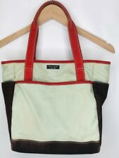 KATE SPADE Colorblocked Canvas Bag, Small Tote, Green/Red/Brown