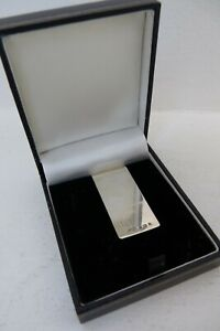Solid Silver Hallmarked Money Paper Clip Engraved 1996 Solo Trading Ltd G100 J8