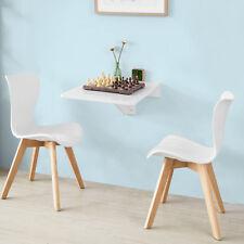 Sobuy table murale Rabattable en bois pour les Enfants 70×45cm Blanc Fwt04-w FR