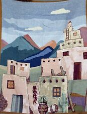 Tache New Vintage Americana South Village Fringed Afghan Tapestry Throw Blanket