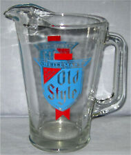 Old Style Glass Beer Pitcher