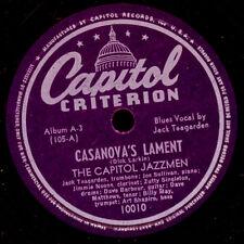 Capitol jazzmen incl. Jack Teagarden, tra l'altro; Casanova's ropeo/... My Solitude x3121