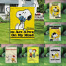 Decor Cute Snoopy Signs Banner/Flag Courtyard Double Sided Outdoor Garden Flags