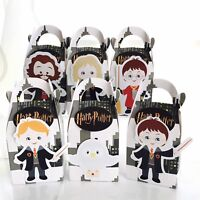 6x Harry Potter Lolly Loot Bag Box. Party Supplies Bunting Cake Banner Magic
