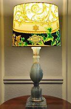 ♕ VERSACE Tischlampe -Schirm ORIGINAL Unikat von VERSACE -Lampenfuß MARMOR /ONYX