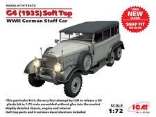 ICM 1/72 MERCEDES G4 (1935) SOFT TOP SECONDA GUERRA MONDIALE Tedesco personale auto # 72472
