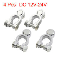 4pcs DC 12V-24V Car Battery Terminals Positive Negative Connectors Clamp Clip