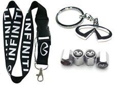 Infiniti Lanyard + Metal Key chain Stem Valve Gift Infinity G35 G37 Q50 Q60 Q70