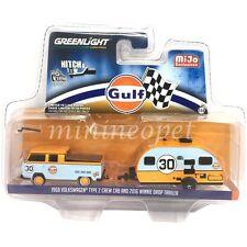 Greenlight 51114 C 1968 Volkswagen Type 2 Crew Cab & 2016 Winnie Drop Gulf 1/64