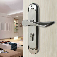 Stainless Steel Privacy Door Security Entry Lever Mortise Handle Locks Set