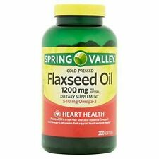 Spring Valley - Flaxseed Oil 1200 mg, 200 Softgels EXP 5/21