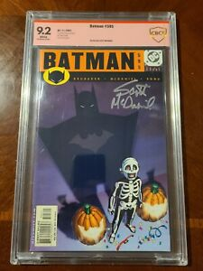 BATMAN 595 DC COMICS (11/2001) CBCS 9.2 WHITE PAGES SIGNED BY SCOTT MCDANIEL