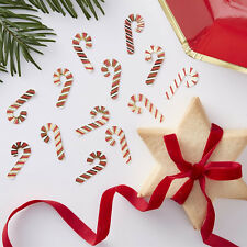 CHRISTMAS CANDY CANE CONFETTI - Christmas Table Confetti Decorations Red & Gold