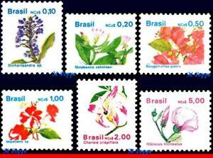 2176-2181 BRAZIL 1989 FLOWERS, FLORA, RHM 669 to 674, MNH