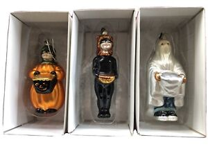 3 - Trick-or-Treaters Ornaments Mercury Glass Dept.56w/boxes Excellent
