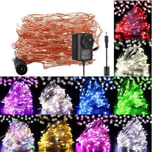 100/200/300/500 LED Plug In Powered Fairy String Lights Garden Christmas Lamp AU