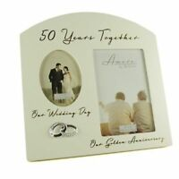 Golden 50th Wedding Anniversary Multi Photo Picture Frame Keepsake Gift FW82950