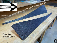 Jeep Wrangler TJ black Aluminum Diamond Plate Full Top Fender Covers set of 2