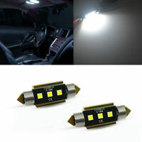2x CANbus 211-2 578 560 42mm 6-3030-SMD 6000K White LED Bulbs For Dome Map Light