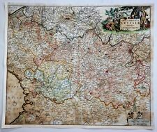 "Original H/C Engraved Map - ""TABULA COMITATUS ARTESIAE""  by De Wit in 1680"