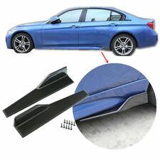 Carbon Fibre 2Pcs 45cm Rocker Panel Skirt Splitter For BMW 7 Series F04 G11 G12