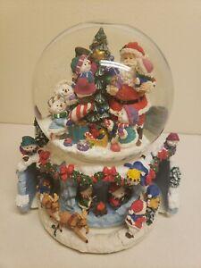 Kirkland Signature Musical Water Snow Globe Revolving Base Santa Snowman Kids