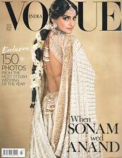 VOGUE INDIA Juli 2018 -Bollywood- Englischsprachiges Mode-Magazin aus Indien