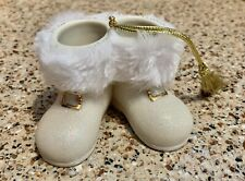Lenox Santa's Sparkle Boots Ornament Porcelain Bling Nos