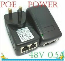 More details for poe power supply 48v 0.5a poe injector adapter uk wall plug power over ethernet
