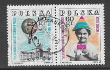 POLAND POSTAL ISSUE - USED SE-TENANT PAIR COMMEMORATIVE STAMPS 1968 - PHILATELY