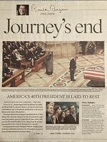 Funeral of 40th US President Ronald Reagan June 12 2004 Collectible Newspaper
