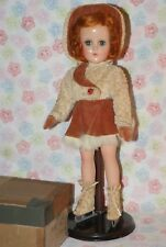 "BEAUTIFUL! All Original Vintage 14"" Nancy Lee Composition Skater Doll In Box"