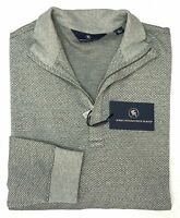 NWT $150 Hart Schaffner Marx 1/4 Zip Sweater Grey Mens Size M L Gray 100% Cotton