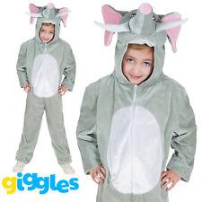 Girls & Boys Elephant Costume World Book Day Week Fancy Dress Outfit Jumpsuit