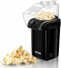 AICOK 1200W Oil Free, Fast Hot Air Popcorn Popper with Measuring Cup Black