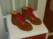 Vintage Dunham Brown Suede Mountaineering Hiking Boots Vibram Soles Sz. 9.5 M