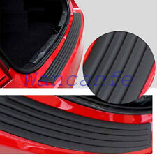 Carbon Fiber Car Sticker Sill Plate Bumper Guard Protector Rubber Pad Cover Trim