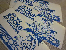 """CATALINA ISLAND STICKERS SET OF 3  """"ON THE ROCKS"""" 7 x 3 INCHES AVALON SOUVENIR"""