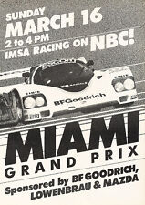 1986 Miami Grand Prix - NBC - Classic Vintage Advertisement Ad D126