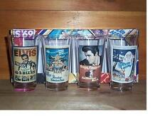 ELVIS PRESLEY 4 VINTAGE MOVIES POSTER COLLECTORS BEER PINT GLASSES RARE NEW