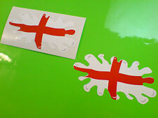 ENGLAND Flag Splat St George Van Car Motorcycle Stickers Decals 2 off 100mm