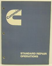CUMMINS STANDARD REPAIR OPERATIONS PUBLICATION 3379072-00 7-74, 54 PAGES
