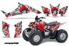 ATV Graphics Kit Quad Decal Sticker Wrap For Honda TRX90 2006-2018 CAMOPLATE RED