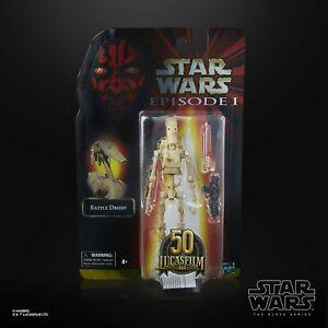 Star Wars 6 inch Black Series 50th Battle Droid New UK & MOC