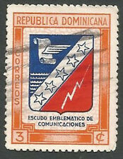 Domnican Republic Scott# 417, Emblem of Communications, 3c, Used, 1945