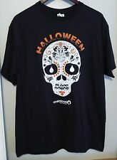 Black Halloween Sugar Skull One Blood Blood Donor T-Shirt Size Large