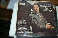 MATT MONRO      THE WORLD OF MATT MONRO     LP DECCA   SPA 133   1971