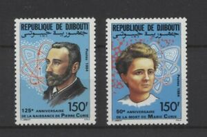 [P25217] Djibouti 1984 Pierre Marie Curie good set very fine MNH stamps