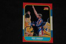 MIKE GMINSKI 1986-87 FLEER SIGNED AUTOGRAPHED CARD #38 NEW JERSEY NETS