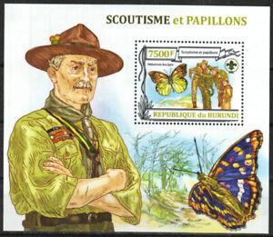 Burundi Stamp - Scouts & Butterflies Stamp - NH